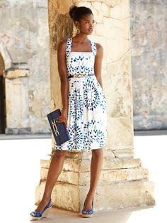 Great Summer Frock! Kaleidoscope Sundress from White House Black Market #whbm