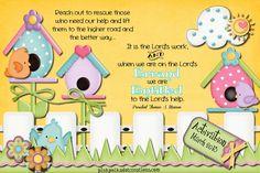 Pink Polka Dot Creations:  March 2013 Visiting Teaching Handout- Free Printable