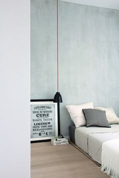 I love the wall color/texture