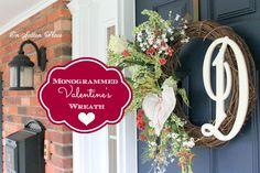 Monogrammed Valentine's Wreath