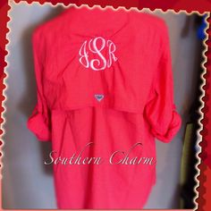Monogrammed Ladies Fishing Shirt by SouthernCharmCo on Etsy, $64.00