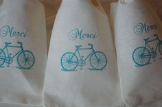 bicycle wedding favours