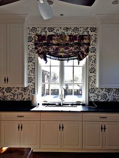 Londan roman Shade furnished and installed by Kite's Interiors
