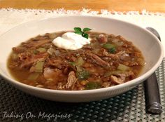 Smoked Turkey-Lentil Soup via Taking On Magazines