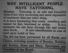 Why intelligent people have tattooing