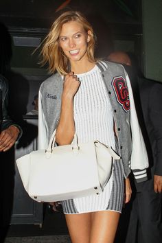 Karlie Kloss in a personalized Opening Ceremony jacket