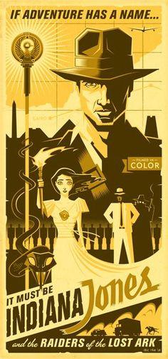 Indiana Jones vintage style poster!