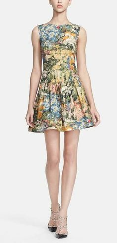In love with this RED Valentino floral dress! find more women fashion ideas on www.misspool.com