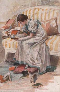 Tatyana from Evgeni Onegin Elena Samokysh-Sudovskaya. ca 1900-1904