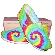 TOMS Tie Dye Shoes