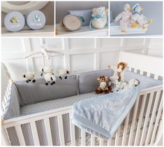 Project Nursery - Gray and Yellow Preppy Nursery Crib Details