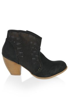 Deb Shops western ankle #boot with cutouts on upper