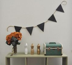 Chalkboard Paint Pennant!  LOVE THIS IDEA and will add it to my pennant collection that I am making.