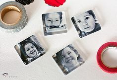 Make these magnets...such a cute gift idea!
