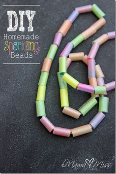 fun afternoon project for the kiddos - DIY sparkling beads