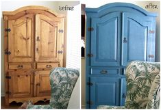 Armoire Makeover - Before and After - hisugarplum.blogspot.com