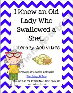 ladi activ, idea, school, teacher notebook, read, old lady who swallowed a shell, literacy activities, ladi book, old ladies