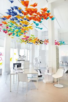 colorful origami canopy