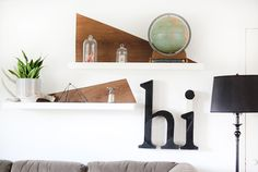 DIY Shelf Accents
