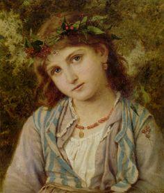 """sophie gengembre anderson """"an autumn princess"""""""