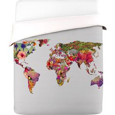 World Duvet Cover King now featured on Fab.