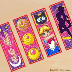 Free Printable Sailor Moon bookmarks