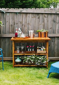 DIY:  How To Build This Bar Table - all the info to build this is on the post.