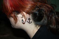 behind the ear anchor tattoo