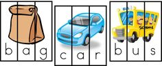 Great site for cvc word printable activities...love these puzzles