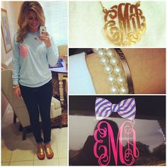 Frat Collection + monograms + Jack Rogers.