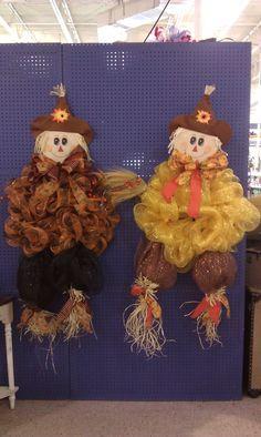 Mesh Scarecrows