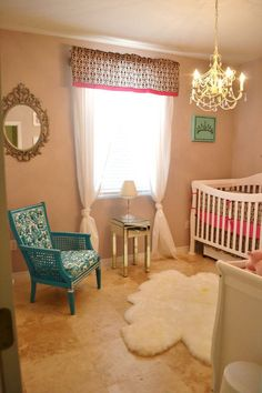 Glam it up in the nursery. #pinparty #nursery
