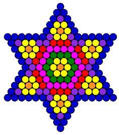 flower star fuse bead pattern bead pattern