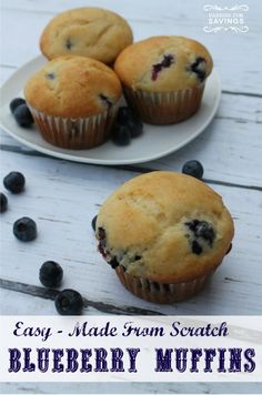 Here is a favorite of mine! Check out these easy to make Blueberry Muffins Recipe! #breakfastrecipe
