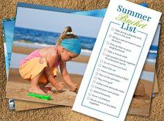 Free Printable! Summer Bucket Lists |