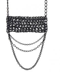 #Crochet necklace by Radka Design