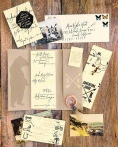 love this #wedding #invitation suite from Martha Stewart Weddings!