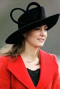 Red & Black: Kate Middleton #Hat #Kate_Middleton
