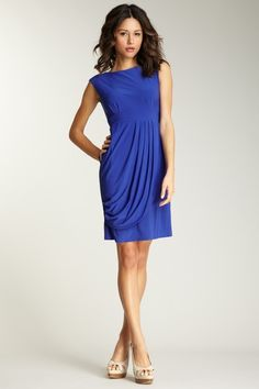 annalee & hope draped front dress
