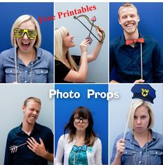 Free Printable Photo Props - Party Decorations