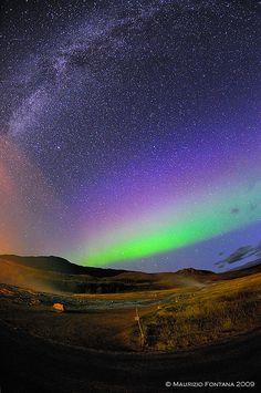 Aurora Borealis & Milkyway, Iceland