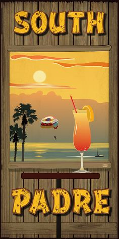 South Padre Island from Texas Poster