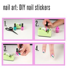 #DIY nail stickers:click for full directions! #nail #art #stickers