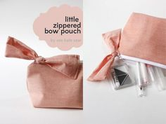 zippered bow pouch pattern + tutorial