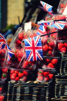 Getting into the spirit of things at the local market. #flags #Union_Jack #UK #Britain #England #Diamond #Jubilee