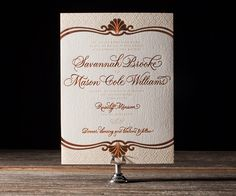 Rosecliff Letterpress Stationery from Bella Figura