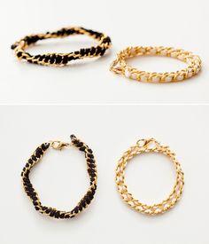 stack bracelet, diy chain, sued chain, wrap bracelet, chain stack, chain bracelet