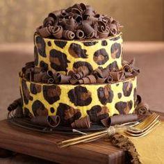 "Hermoso pastel Leopard Print con técnica ""joconde imprime""...súper!!!!!!"
