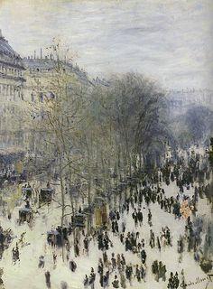 Boulevard des Capucines by Claude Monet, 1873.