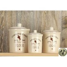 Western decor and fashion on pinterest - Western canisters for kitchen ...